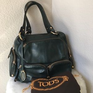 Authentic Tod's Forrest Green Satchel Bag