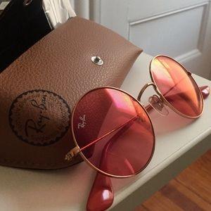 Ray Ban Pink Circle Sunglasses