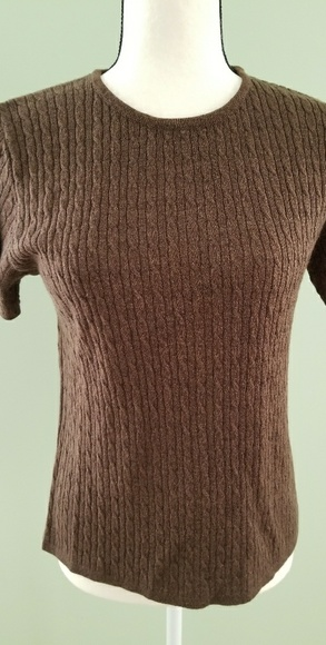 72% off Old Navy Tops - Old Navy brown short sleeve sweater from ...