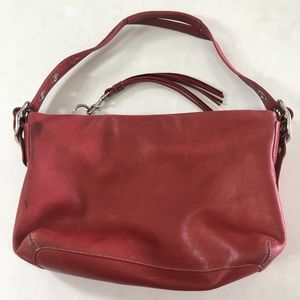 COACH Red Soft Leather Handbag