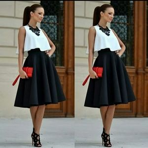 2 pc classy chiffon skirt and top