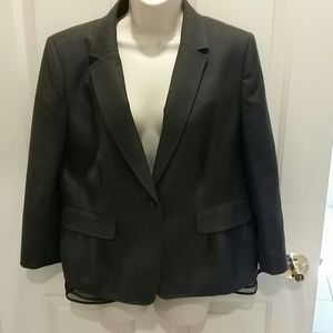 Ann Taylor class lined gray blazer with crinoline
