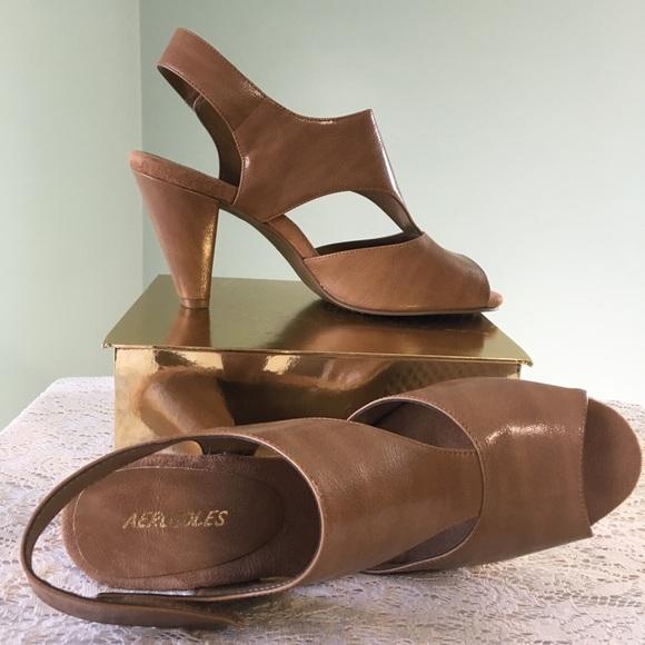 99608e5294 Aerosoles Nude Peeptoe Cutout High Heeled Sandals.  M_59ecd472eaf03086ca08d334