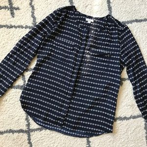 Gap Double Pocket Button Down Blouse