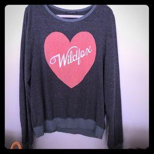 """EUC Wildfox BBJ w/ """"I love Lucy"""" style logo"""