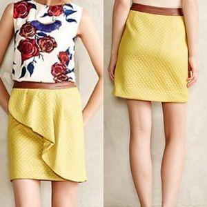 Anthropologie Petaled Lemon Skirt