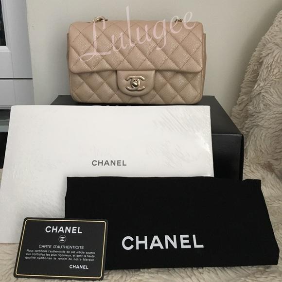 7e1a98cdca8c CHANEL Bags | Auth Caviar Mini Rectangular Pearl Beige | Poshmark