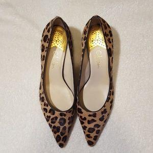Cole Haan Leopard Print Calf Hair Heel
