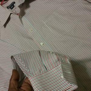 PAIR Of Men's Land's End Button Down Dress Shirts