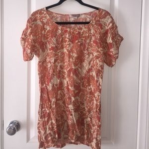 Forever 21 🍂Peach & Tan 🍂shift dress Size Small