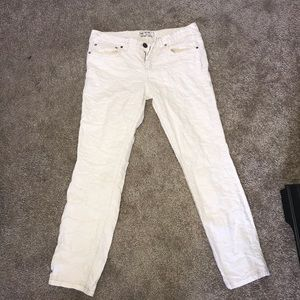 Free people winter white jeans!