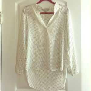 White dotted blouse (M)