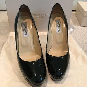 Jimmy choo patent leather black pumps size 40.5