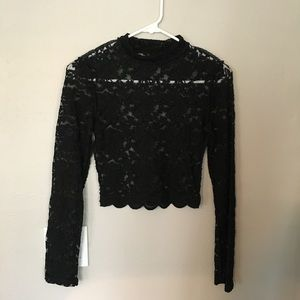 Black lace forever 21 top
