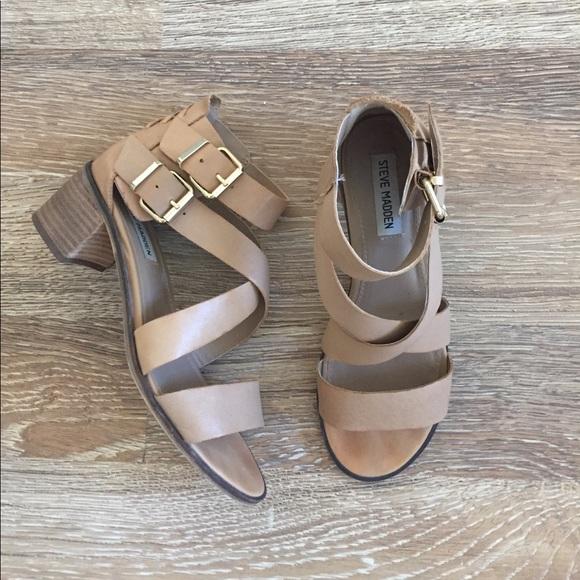 b3acff26edf Steve Madden Rosana Leather Sandal 8.5