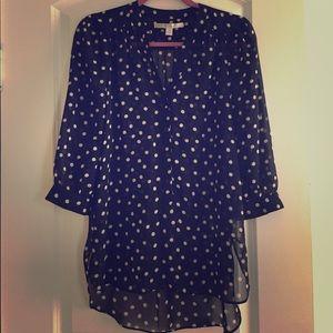 Blacks &white dotted blouse (M)