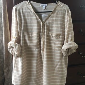 Ladies XL Calvin Klein zip lightweight blouse