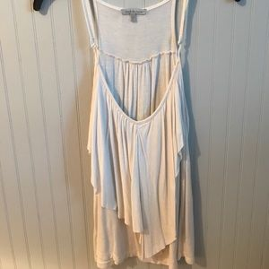 Charlotte Russe white tank top, size L