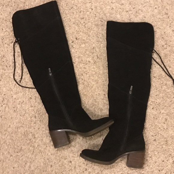 Black Suede Over The Knees Boots   Poshmark