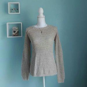 Faded Glory Beige Knit Sweater