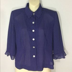 1980s polka for blouse