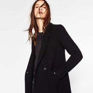 a13cba3c Zara Jackets & Coats   Black Masculine Coat   Poshmark