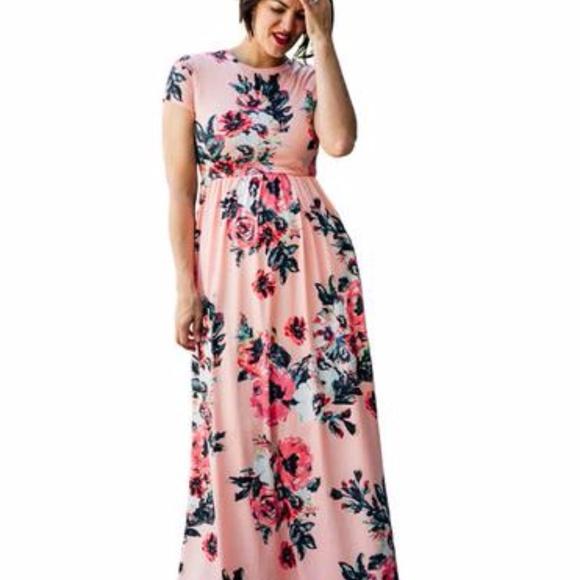 27c3588b10b86 Hazel Blues Dresses & Skirts - Tara Lynn's Boutique Sienna Floral Maxi Dress  3XL