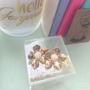 Jewelry - vintage inspired flower earrings