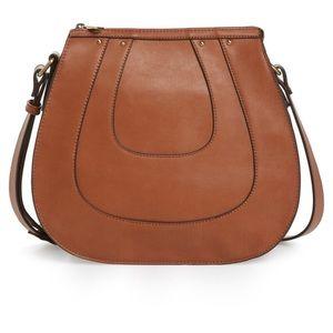 Sole Society Korah Vegan Tan Leather Bag