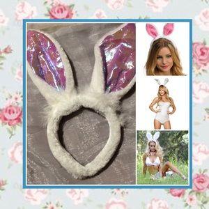Accessories - 🌺 New White & purple headband bunny rabbit ears