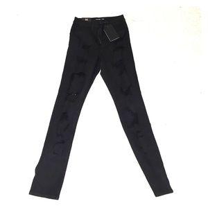 Fashion Nova skinny ripped black jeans brand new