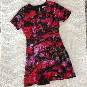 BB Dakota Floral Dress with Cutout Back