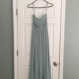 Jenny Yoo convertible chiffon blue dress