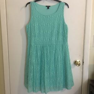 Forever 21 Teal Lace Dress