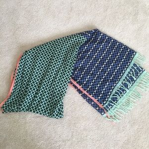 J Crew patterned long scarf