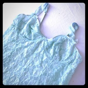 Other - Aqua / Teal lace babydoll