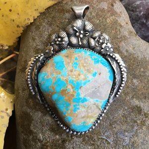Unique turquoise pendant