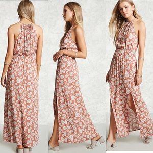 Floral M-Slit Maxi Dress