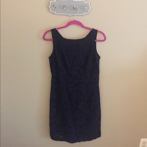 Banana Republic lace dress size 4 navy blue