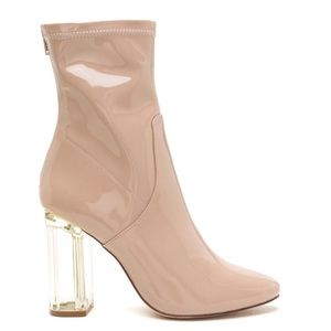 Faux patent booties