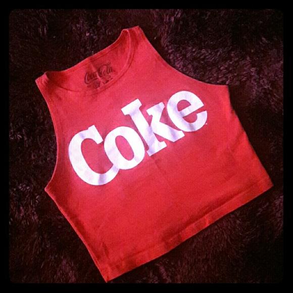 2aa0b28ab8618 coca-cola by doe Tops - COKE CROP TANK TOP BY COCA-COLA BY