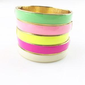 Stackable enamel bracelets - price is per bracelet