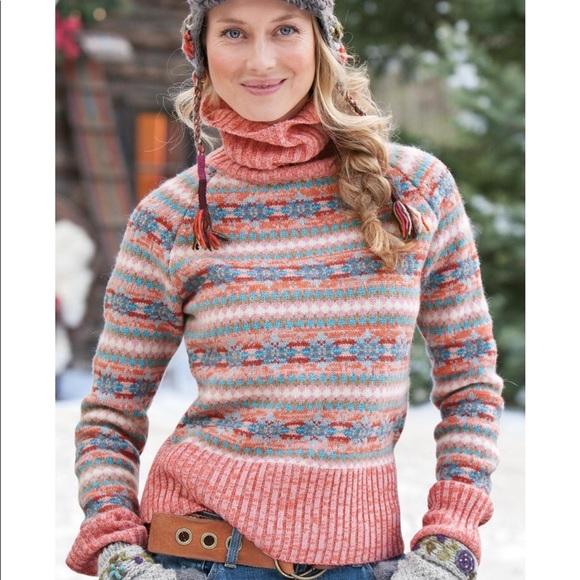 51% off Sundance Sweaters - Sundance Fair Isle Turtleneck ...