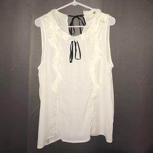 Lauren Conrad- Beautiful cream shirt Size L NWOT