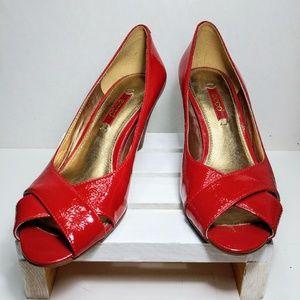 Ecco Red Open Toe Heel