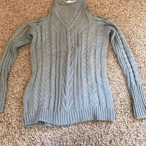 Sweaters - Bare shoulder turtleneck sweater