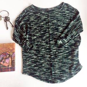 Market & Spruce Sawyer Space Dye Green Sweater M