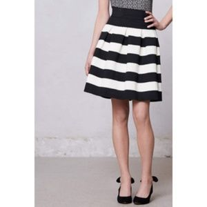Anthro Girls from Savoy Scalloped Striped Skirt