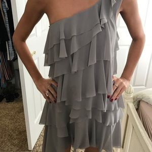 One shoulder ruffle dress!