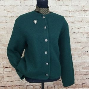 VINTAGE TALLY-HO Wool Cardigan